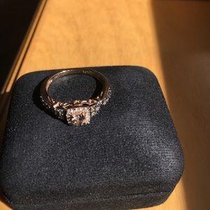 LeVian Strawberry (pink/rose) gold diamond ring.